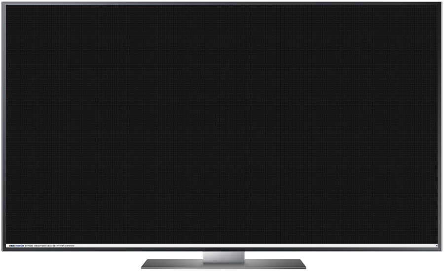 TV Testbild Hilbert Pattern Black Full HD 1920 x 1080 Px.