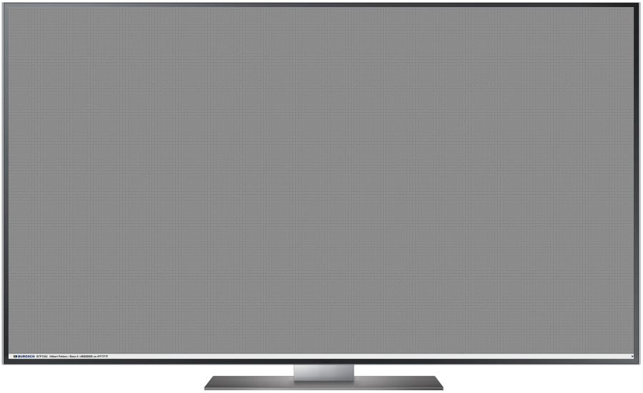 TV Testbild Hilbert Pattern White Full HD 1920 x 1080 Px.