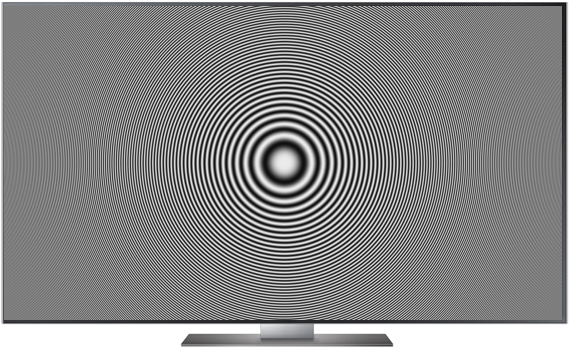 Burosch Zoneplate Grayscale 0.5 8K TV: Full HD 1920 x 1080 Px.