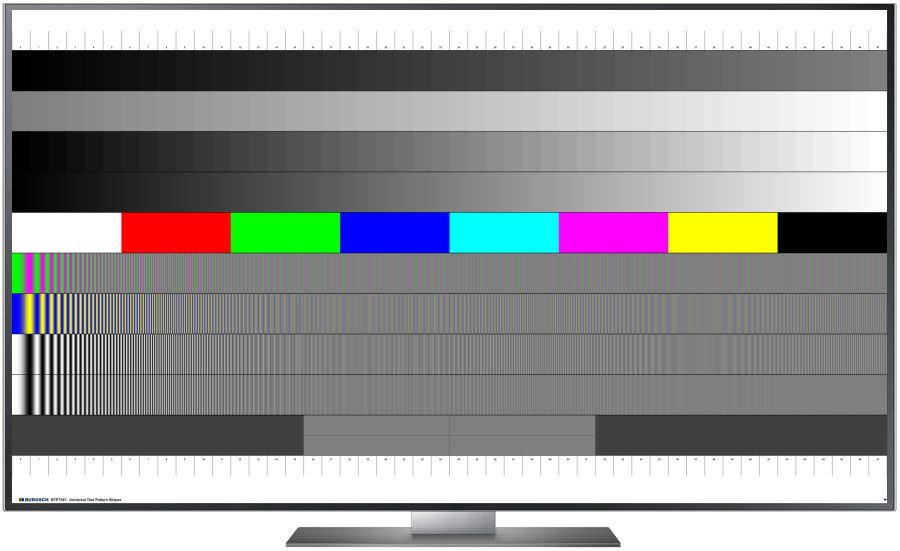 TV Testbild Universal Pattern Stripes 7680 x 4320 Px. 8K