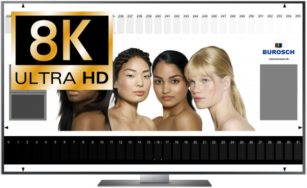 8K TV Testbilder - Download